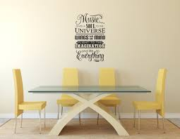 Music Gives Soul To The Universe Plato Quote Vinyl Wall Art Etsy