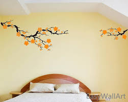 Plum Blossom Wall Decal For Living Room Decals Bedroom Decal Etsy