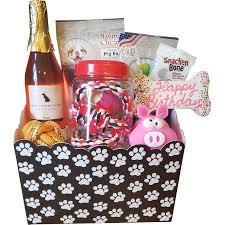 dog pawrignon birthday gift basket