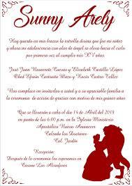 Invitacion Quince Anos Boda Etc Bella Y Bestia 20 00 En