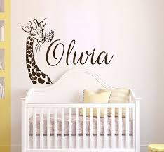 Giraffe Wall Decal Name Safari Nursery Wall Decal Giraffe Etsy Safari Nursery Wall Decor Safari Nursery Walls Nursery Wall Decals