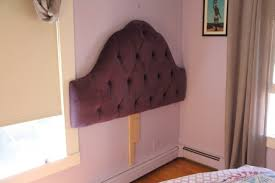 mount an upholstered headboard to the