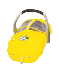 summer baby car seat cover yellow petit