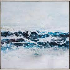 bella casa atlantic ocean waves framed