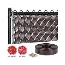 Chain Link Fence Privacy Slats Screen Panels Parts Supplies Brown Weave Roll Dog Chain Link Fence Parts Chain Link Fence Privacy Chain Link Fence