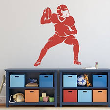 Amazon Com Large Football Player Wall Decals Vinyl Home Gym Or Locker Room Wall Decor Handmade