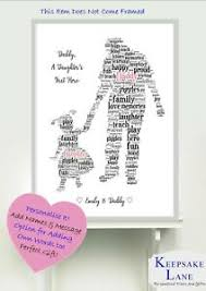 personalised dad daddy and daughter a4