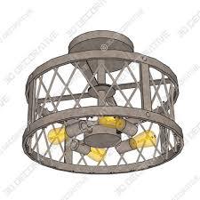danxu lighting 3 light drum shade semi