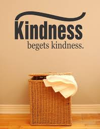 Kindness Begets Kindness Picture Art Vinyl Decal 16x32 Contemporary Wall Decals By Design With Vinyl