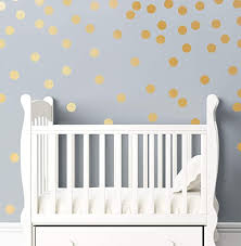 Amazon Com 2 Metallic Matte Gold Dot Wall Decor Includes 240ct Gold Dot Peel And Stick Circle Vinyl Decals Safe On Painted Walls Or Smooth Surfaces And Easy To Remove Kitchen Dining