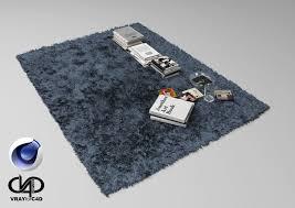 3d model fur carpet and books c4d vray