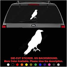 Amazon Com Crow Bird Animal Die Cut Vinyl Decal Sticker For Car Truck Motorcycle Vehicle Window Bumper Wall Decor Laptop Helmet Size 6 Inch 15 Cm Tall Color Gloss White