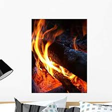 Amazon Com Wallmonkeys Fire Wall Decal Peel And Stick Graphic Wm172124 24 In H X 18 In W Home Kitchen