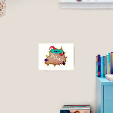 Poof Pow Art Print By Laurasmakes Redbubble