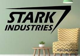 Iron Man Stark Industries Wall Decal Superhero Children Room Vinyl Wall Sticker Ebay