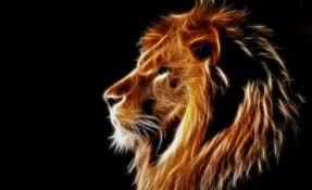 glowing lion lion s head ilration
