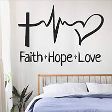 Bible Verse Vinyl Wall Decal By Scripture Wall Art 11 X 22 Faith Hope Love