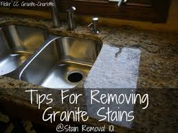 granite stains from countertops