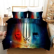 star trek printed bedding set