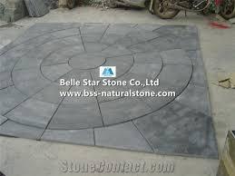 charcoal grey riven slate paving