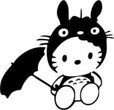 Hello Kitty Totoro Vinyl Car Window Laptop Decal Sticker Ebay