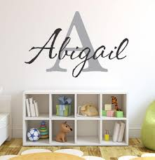 Amazon Com Baby Girl Initial Personalized Custom Name Vinyl Wall Decal 28 W By 16 H Girl Name Wall Decals Wall Decal Name Wall Decal Nursery Name Decal Girls Names Plus Free White