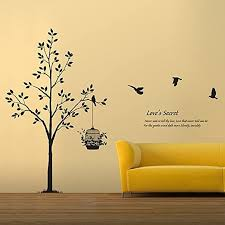 Amazon Com Tree Birds Wall Decal Living Room Quotes Love S Secret Never Seek To Tell Thy Love Vinyl Wall Art X Large Black Home Kitchen