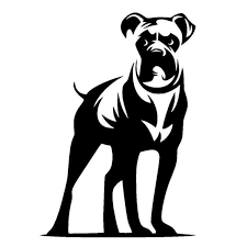 Boxer Vinyl Decal Car Window Stickers Black Sliver Boxer Dogs Dog Silhouette Dog Stencil