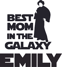 Best Mom In The Galaxy Logo Cartoon Character Customized Wall Decal Custom Vinyl Wall Art Personalized Name Baby Girls Boys Kids Bedroom Decal Room Wall Art Sticker Decoration Size