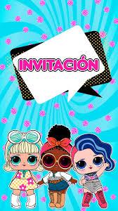 Tarjeta De Invitacion Animada Lol Surprise En 2020 Invitaciones
