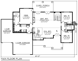 house plan 75456 traditional style