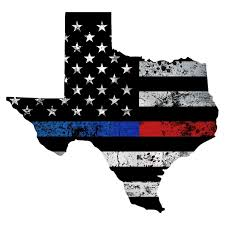 Texas Thin Blue Red Line Grunge Flag Decal Az House Of Graphics