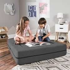 Shop Jaxx Big Kids Convertible Sleeper Loveseat Ottoman Overstock 16604799