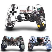 Monster Hunter Stickers Ps4 Controller Skin Vinyl Decal Sticker Cover For Sony Playstation 4 Dualshock 4 Wireless Controller Stickers Aliexpress