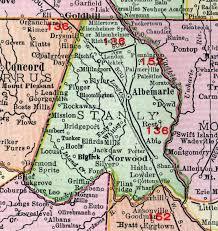 Stanly County, North Carolina, 1911, Map, Rand McNally, Albemarle ...