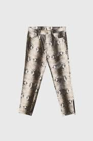 zara snake print jeans the