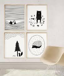 Woodland Creatures Art Kids Room Decor Animal Prints Etsy Scandinavian Nursery Decor Scandinavian Baby Room Baby Room Art