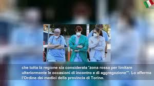 coronavirus l ordine dei medici di torino tutto il piemonte sia zona rossa  5e65129e7f15c - YouTube