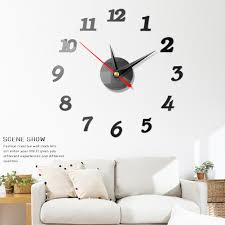 Modern Large Wall Digital Clocks 3d Mirror Sticker Unique Big Number Watch Art 3d Diy Acrylic Decor For Home Office Kids Room Wall Stickers Aliexpress