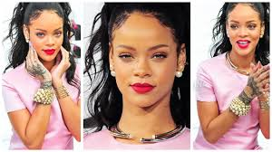 rihanna makeup tutorial pink dress