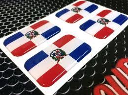 Dominican Republic Flag Vinyl Decal Bumper Sticker 2 Pack Car Truck Van Window Rainbowlands Lk