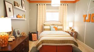 Austin Pink And Orange Rooms Kids Contemporary With Gray Wall Decals Green Striped Bedding