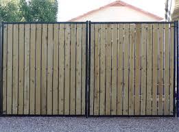 Wood And Iron Rv Access Gate Front Yard Driveway Gate Backyard