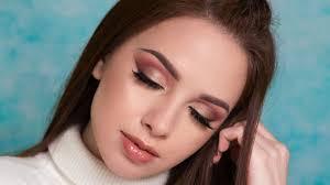 warm toned smokey eyes brown eyeliner