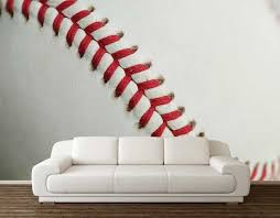 Baseball Wall Decal Wall Mural Baseball Sport Wall Decal Etsy