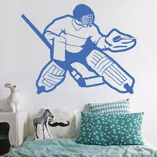 Ik565 Wall Decal Sticker Roller Hockey Stick Goalie Stick Puck Sport T Stickersforlife