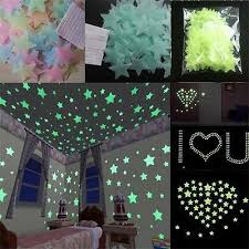 40 200x Wall Stickers Home Decor Glow In The Dark Star Sticker Decal Kids Room L Ebay