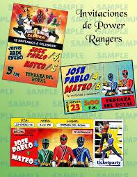 Extraordinario Invitaciones De Power Ranger Para Imprimir Gratis