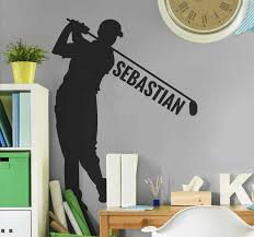 Golf Player Personalised Sticker Tenstickers