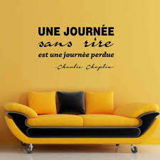 Wall Sticker Journee Sans Rire Est Une Journee Perdue Vinyl Wall Art Decal Living Room Home Decor Poster French Quote Wall Decor Wall Stickers Aliexpress